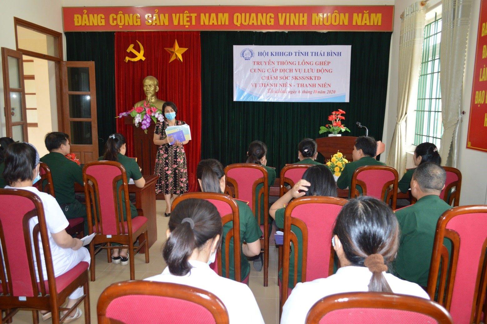 Hội Kế hoạch hóa Gia đình tỉnh: Truyền thông lồng ghép cung cấp dịch vụ lưu động chăm sóc Sức khỏe Sinh sản, Sức khỏe tình dục vị Thành niên - Thanh niên